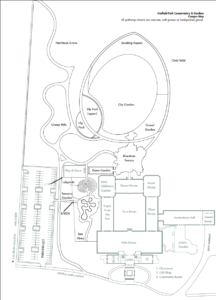 Line drawing of the campus map.