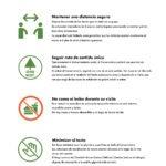 infografía de las reglas para visitar el conservatorio garfield park