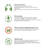 Infographic of the rules for visiting Garfield Park Conservatory