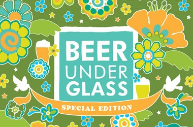 Beer Under Glass event graphic with special edition